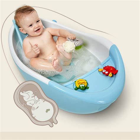 bathtub kids infant newborn to toddler bath shower baby bath tub