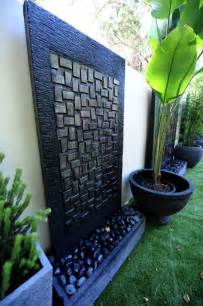 Backyard Feature Wall Ideas Water Features Copper And Cement On