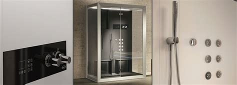 ducha anticalcare frame in2 a 2 person sensory steam shower experience