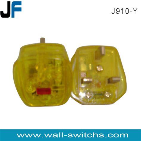 J910 Black j910 y coloured electrical plugs ac power cord 3 pin