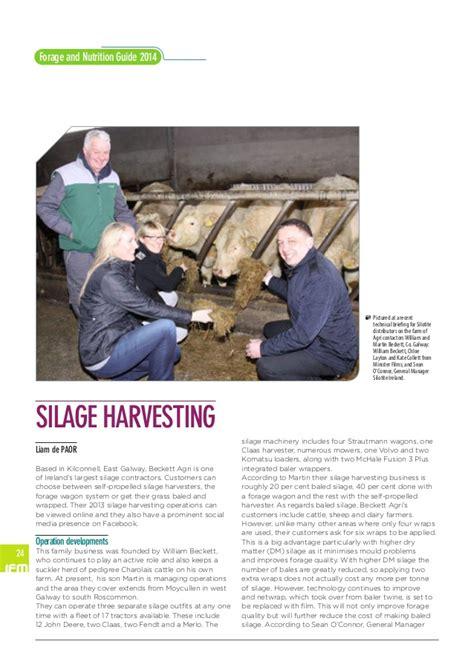 beckett agri wagon silage 2014 ifm forage guide 2014