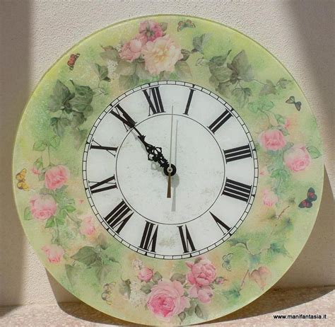 tutorial decoupage sotto vetro tutorial decoupage orologio rose e farfalle manifantasia