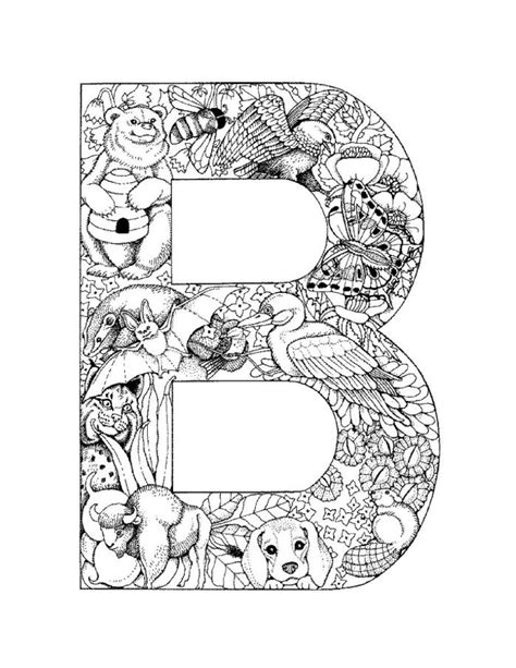Coloring Page Letter B by Free Fancy Letter B Coloring Pages