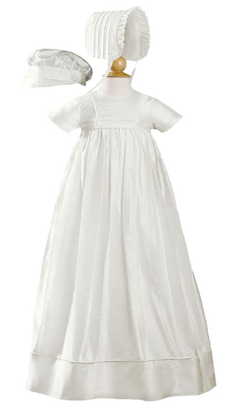 Handmade Christening Gowns - silk handmade heirloom christening gown with hat bonnet