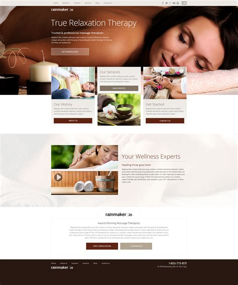 Massage Therapist Website Templates Mobile Responsive Designs Therapy Websites Templates