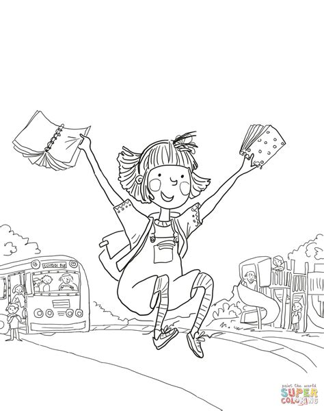 amelia bedelia coloring pages images amelia bedelia first day of school coloring page free