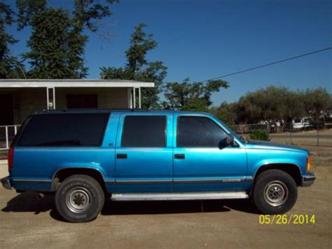 how cars run 1992 gmc suburban 2500 security system sell used 1992 gmc c2500 suburban sle sport utility 4 door 7 4l in terra bella california