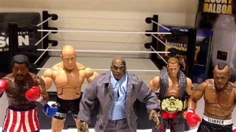 rocky v figures rocky balboa iron mike tyson jakks boxing creed