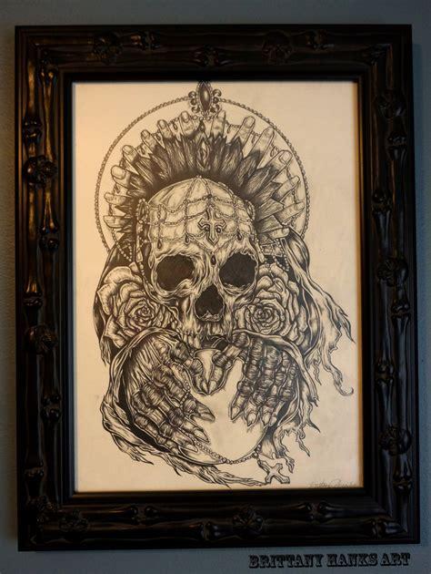 tattoo home decor gothic dark art drawing skull tattoo art home decor punk