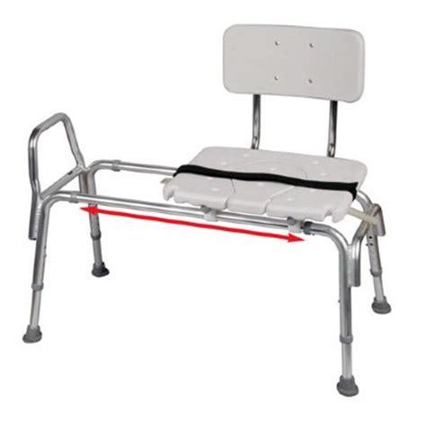 snap n save sliding transfer bench snap n save plastic sliding transfer bench with cut out seat