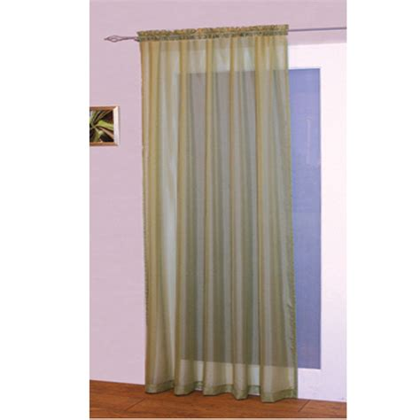 kitchen curtain rods voile net slot top rod pocket curtain panel bedroom