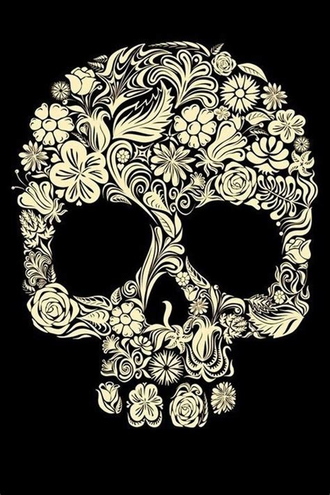 wallpaper skull flower flower sugar skull iphone 4 wallpaper 640x960