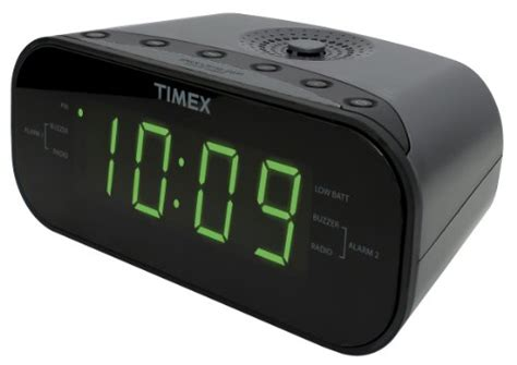timex t231gy am fm dual alarm clock radio with 1 2 inch green display and new