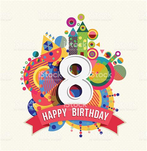 un buon non compleanno testo buon compleanno 8 anni di auguri poster di colore