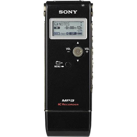 2gb digital voice recorder sony icd ux80 digital voice recorder 2gb black icdux80 b h