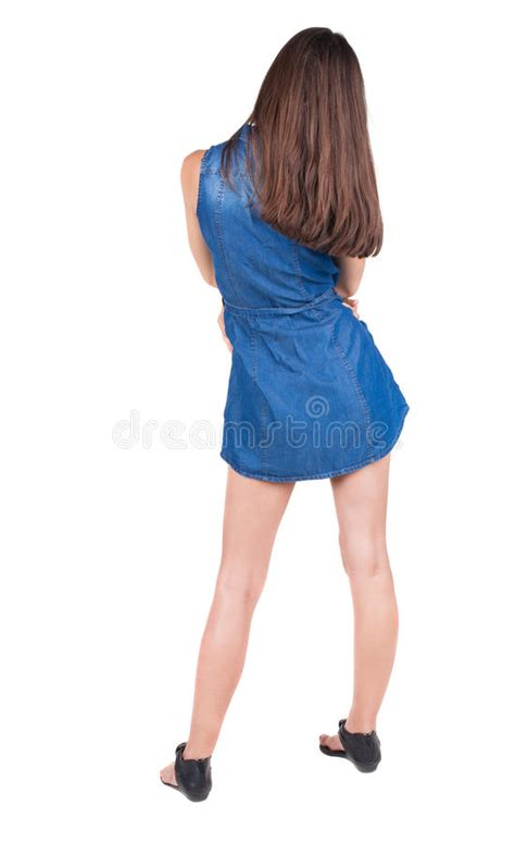 ladies back side images back view of standing young beautiful woman brunette girl