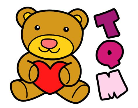 imagenes de amor y amistad dibujos dibujo de el oso del di 225 del amor y la amistad pintado por