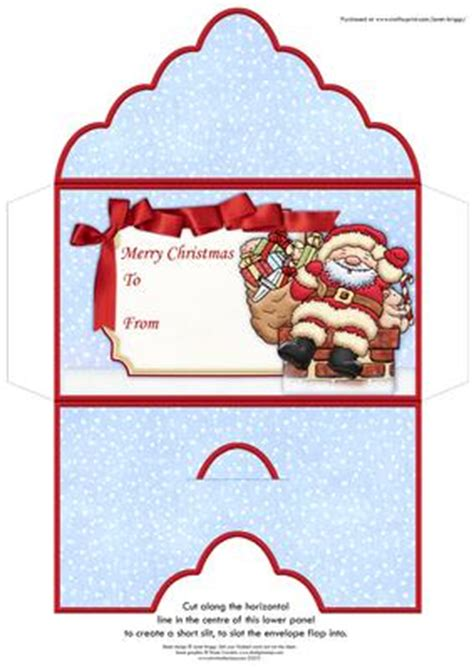 santa delivery christmas money wallet gift voucher envelope cup craftsuprint