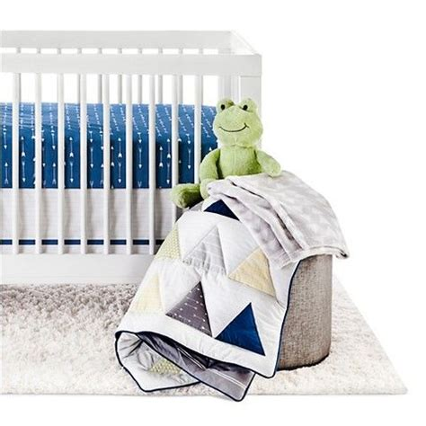 Circo Crib Bedding Circo 4pc Crib Bedding Set Blue Triangle Boys Crib Bedding And Bedding Sets