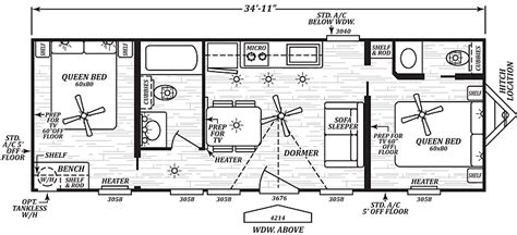 park model travel trailer floor plans grayson floor plan park model homes virginia