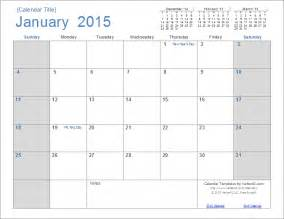 2015 Monthly Calendar Template With Holidays 2015 calendar templates and images