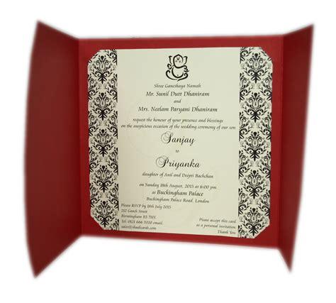 ABC 414H Red Hindu Wedding Invitations Card []   £0.65 : Indian & Pakistani Wedding Invitations