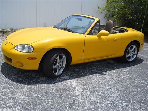 electric and cars manual 2002 mazda miata mx 5 user handbook buy used 2002 mazda miata mx 5 yellow one owner florida car excellant condition in saint
