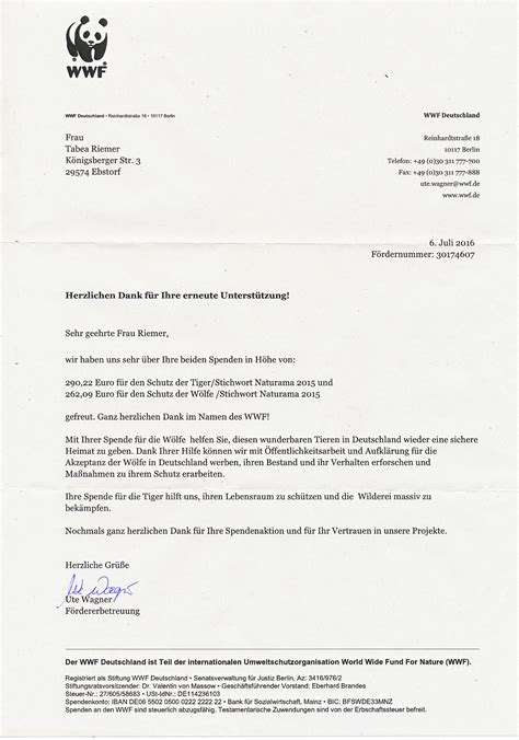 wwf charity letter wwf charity letter 28 images naturama projekt 2016