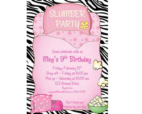 printable birthday invitations sleepover sleepover invitation sleepover birthday invitation sleep over