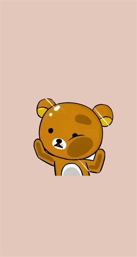 Custom Rillakuma kawaii teddy wallpaper