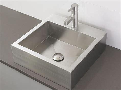 stainless steel sink bathroom modern rectangular stainless steel vessel 1 dl