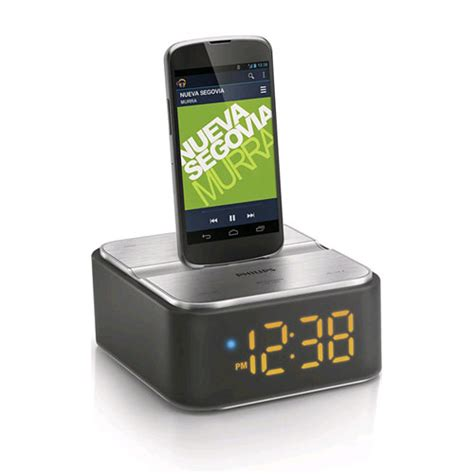 android alarm clock dock philips as130 wireless speaker dock with clock for android expansys australia