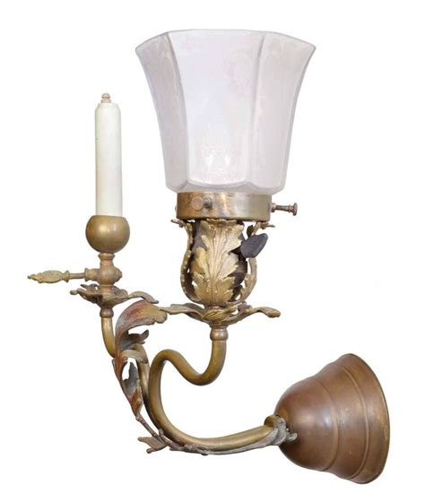 Gas Wall Sconce 1890s Victorian Gas Electric Brass Sconce For Sale At 1stdibs