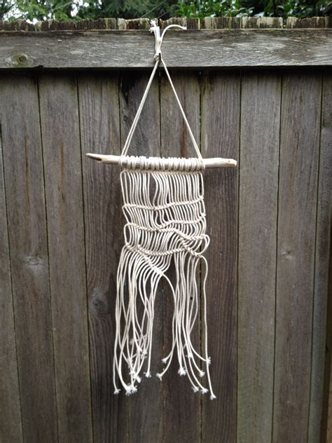 Macrame Wall Hanger - driftwood macram 233 plant hangers and wall hangings