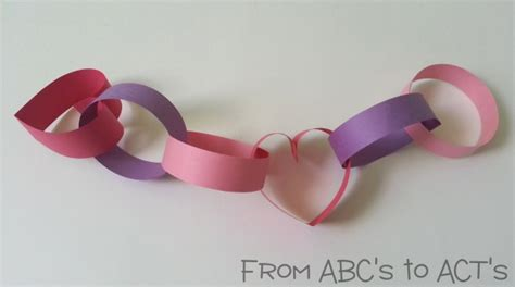 Paper Chain Crafts - crafts for paper chain from abcs