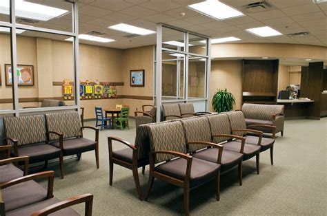 brown color chairs in medical office waiting room ideas 25