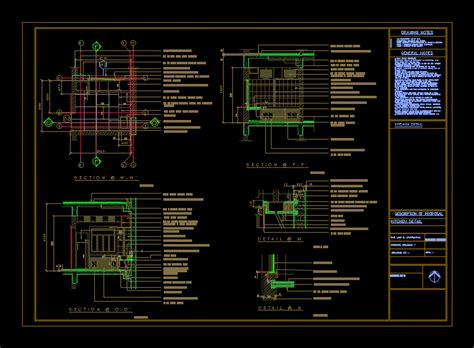 working drawing kitchen detail dwg section  autocad