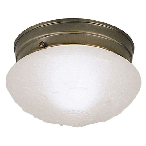 Westinghouse Light Fixtures Westinghouse 66604 1 Light Antique Brass Ceiling Light Fixture Elightbulbs