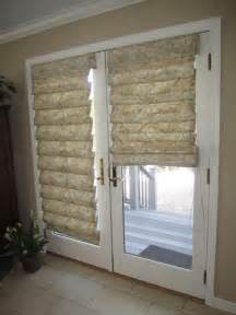 hobbled roman shades on french doors