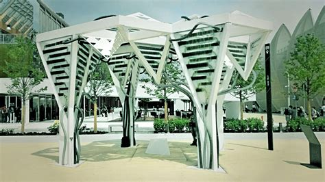 futuristic algae folly grows food fuel and shade