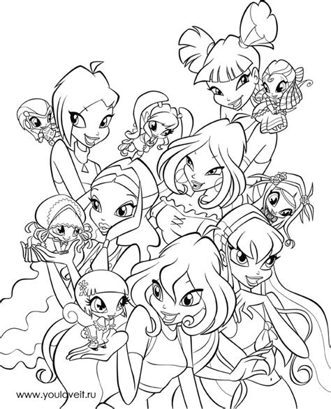 winx pixie colouring pages picture