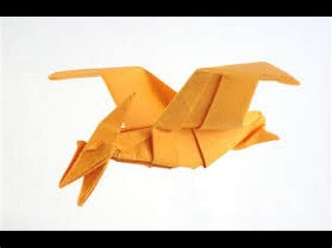 How To Make A Paper Flying Dinosaur - origami paper how to make an origami dinosaur animal