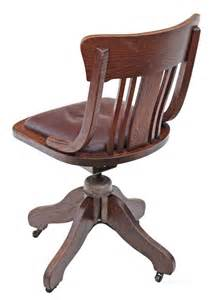 vintage leather desk chair oak and leather desk office swivel chair antiques atlas