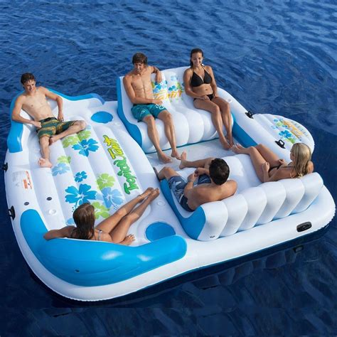 blow up the boat inflatable party raft 6 person blow up float pontoon boat