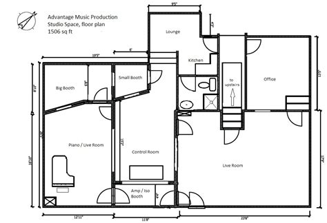 studio floor plan recording studio design floor plans