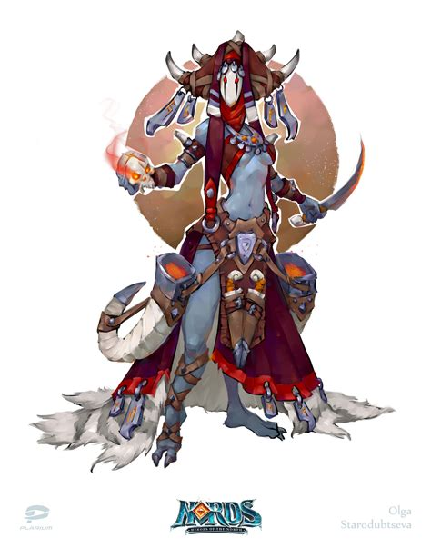 design game characters online artstation orc bloodwitch olga starodubtseva