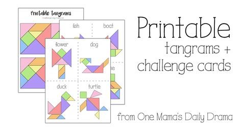Home Decor On A Budget Blog by Printable Tangrams And Challenge Cards