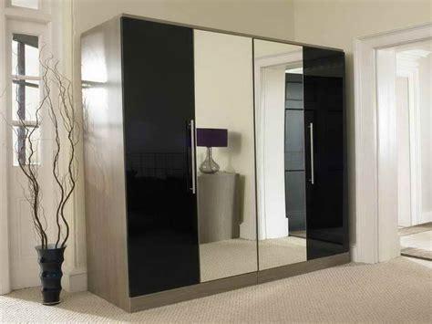 bedroom mirrored wardrobes bedroom mirror wardrobe with 4 doors black smooky design beautiful mirror wardrobe