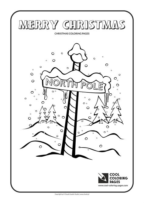 Christmas Coloring Pages Cool Coloring Pages The Pole Coloring Pages