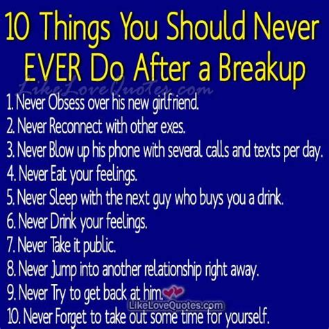 10 Things About Womans You Should by Ten Things You Should Never Do After A Breakup